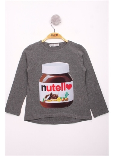 Toontoy Kids Toontoy Kız Çocuk Nutella Baskılı T-Shirt Renkli